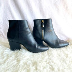 Kate Spade Black Leather Rickee Booties size 9